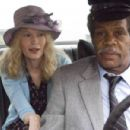 "(left to right) Mia Farrow stars as ""Ms. Kimberley"" and Danny Glover stars as ""Mr. Fletcher"" in New Line Cinema's upcoming release of Michel Gondry's BE KIND REWIND. Photo Credit: Abbot Genser/New Line Cinema"