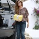 Denise Richards Arriving For A Party In Malibu