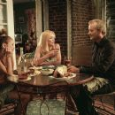 Alexis Dziena (left), Sharon Stone (center) and Bill Murray (right) star in Jim Jarmusch's BROKEN FLOWERS, a Focus Features release. Photo by David Lee.