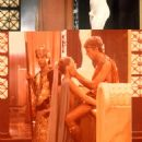 Teresa Ann Savoy as Julia Drusilla and Malcolm McDowell as Caligula in Caligula.