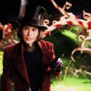 "JOHNNY DEPP stars as Willy Wonka in Warner Bros. Pictures' fantasy adventure ""Charlie and the Chocolate Factory."" Photo by Peter Mountain"