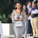 Olivia Culpo in Silver Dress – Out in Miami Beach