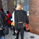 Stella Maxwell – Arrives at the Zadid and Voltaire Fashion Show in NYC