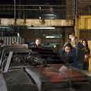 Jacob Vargas, Ian McShane, Jason Statham and Natalie Martinez in the scene of Death Race.