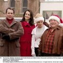 The Finches (Matthew Broderick and Kristin Davis) and Halls (Kristin Chenoweth and Danny DeVito) display varying reactions to a holiday-themed event. Photo credit: Doane Gregory.