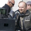 Director Neil Marshall in the set of Doomsday.