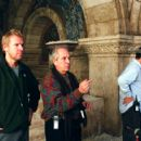 Director Renny Harlin and cinematographer Vittorio Storaro on the set of Morgan Creek Productions prequel to The Exorcist, 'Exorcist: The Beginning,' distributed by Warner Bros. Pictures.