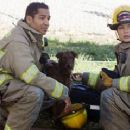 Scotch Ellis Loring as Lionel Bradford and Mayte Garcia as Pep Clemente in Firehouse Dog - 2007 - 440 x 239
