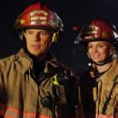 Bruce Greenwood as Connor Fahey and Hannah Lochner as Jasmine 'J.J.' Presley in Firehouse Dog - 2007 - 440 x 239