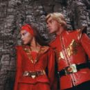 Ornella Muti as Princess Aura and Sam J. Jones as Flash Gordon in Universal Pictures' Flash Gordon.