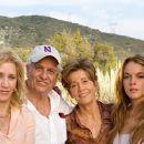 Garrett Hedlund, Felicity Huffman, Garry Marshall, Jane Fonda, Lindsay Lohan and Dermot Mulroney behind the scene of Georgia Rule - 2007