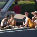Vanessa and Stella Hudgens – on a yacht in Porto Cervo – Italy