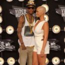 Amber Rose and Wiz Khalifa Attend the 28th Annual MTV Video Music Awards at the Nokia Theatre L.A. Live in Los Angeles, California -  August 28, 2011 - 394 x 594