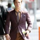 Blake Lively And Ed Westwick On The Set Of 'Gossip Girl' In New York