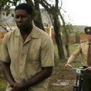 Dennis Haysbert as Nelson Mandela and Joseph Fiennes as James in Goodbye Bafana.