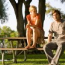 Dawn (Radha Mitchell) and Henry (Luke Wilson) in the scene of Henry Poole Is Here.