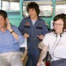 Center: Andy Samberg behind the scene of Hot Rod. Credits by James Dittiger. (C) 2006 Paramount Pictures. All rights reserved.