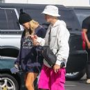 Hailey Baldwin and Justin Bieber – Arrive to the movies at IPIC Movie theater in Westwood
