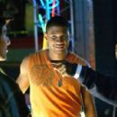 Frankie Jr. (Anthony Fazio), Darrell (Usher) and best friend Busta (Kevin Hart) from IN THE MIX. Photo credit: Saeed Adyani