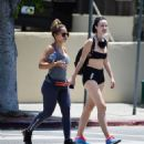Jayde Nicole in Tiny Shorts – Hiking with a female friend in the Hollywood Hills - 454 x 486