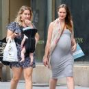 Kaylee DeFer seen out in the West Village, wearing ash grey outfit in New York City - 454 x 582