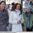 A close friends Dana (Bree Turner), Ashley (Lindsay Lohan) and Maggie (Samaire Armstrong) enjoy a stroll through the streets of Manhattan, in JUST MY LUCK. TM and © 2006 Twentieth Century Fox. All Right Reserved. Photo by Barry Wecher.