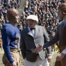 Bulldogs team captain Dodge Connolly (GEORGE CLOONEY), Chicago referee (BLAKE CLARK) and war hero Carter Rutherford (JOHN KRASINSKI). - 454 x 303