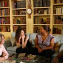 Ted Danson, iane Keaton, Katie Holmes, Queen Latifah and Roger R. Cross in the scene of Callie Khouri crime 'Mad Money'
