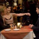 In Columbia Pictures' Made of Honor, when Tom's (Patrick Dempsey, right) best friend, Hannah (Michelle Monaghan, center), gets engaged to Colin (Kevin McKidd, left), she asks Tom to be her maid of honor.  Tom accepts - but only so he can woo the b