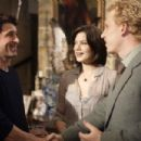 In Columbia Pictures' Made of Honor, when Tom's (Patrick Dempsey, left) best friend, Hannah (Michelle Monaghan, center), gets engaged to Colin (Kevin McKidd, right), she asks Tom to be her maid of honor.  Tom accepts - but only so he can woo the b