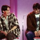 Jeremy London (T.S. Quint) and Jason Lee (Brodie Bruce) in Gramercy Pictures' comedy Mallrats - 1995