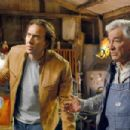"""Cris (NICOLAS CAGE, left), a man with special cognitive abilities, asks his friend Irv (PETER FALK, right) to help him elude the FBI in """"Next."""" Photo by: Joseph Lederer. © 2007 Paramount Pictures and Revolution Studios. All Rights Reserved."""