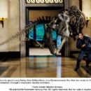 Security guard Larry Daley (Ben Stiller) flees, as a Tyrannosaurus Rex that has come to life at night carves a swath of destruction through a museum's marble corridors. Photo credit: Rhythm & Hues