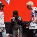 Tommy Lee attends the Monster Energy NASCAR Cup Series race at Auto Club Speedway at Auto Club Speedway on March 17, 2019 in Fontana, California - 454 x 303