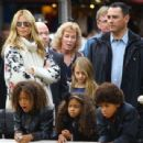 Heidi Klum Takes Her Kids To The Grove 12/20/14