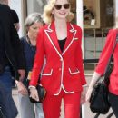 Carey Mulligan in Red Suit out in Cannes - 454 x 759