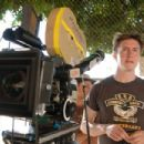 Director David Gordon Green on the set of Columbia Pictures' action-comedy Pineapple Express. © 2008 Columbia Pictures Industries, Inc.
