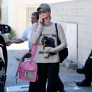 Paris Hilton with her dog in Beverly Hills