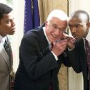 Leslie Nielsen (center) and Ja Rule (right) in Dimension's Scary Movie 3 - 2003 - 454 x 302