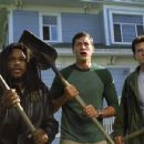 Anthony Anderson (left), Simon Rex (center), and Charlie Sheen (right) star in Dimension's Scary Movie 3 - 2003
