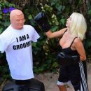 Courtney Stodden – Takes shots at her ex Doug Hutchinson punching shirt in Beverly Hills - 454 x 386