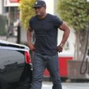 Reggie Bush stopping at a gas station in West Hollywood, California on February 15, 2014