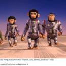 Meet the 'Space Chimps' with all the wrong stuff: (from left) Houston (voice by Zack Shada), Luna (voice by Cheryl Hines), Ham III (voice by Andy Samberg), Titan (voice by Patrick Warburton) and Comet (voice by Carlos Alazraqui). Photo credit: Van - 454 x 219