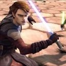 Jedi Knight Anakin Skywalker and padawan learner Ahsoka prepare for an attack in a scene from the upcoming 'Star Wars: The Clone Wars.' The first animated project from George Lucas and Lucasfilm Animation will be released theatrically on Aug. 15 b