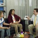 """Strange Wilderness"" TV show host Peter Gaulke (Steve Zahn, left) and his partner Fred Wolf (Allen Covert, center) try to talk Ed Lawson (Jeff Garlin, right) out of canceling their program in ""Strange Wilderness."" Photo Credit: Dar"