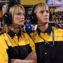 Cameron Richardson as Piper and Aaron Carter as Owen in Steve Boyum's SUPERCROSS, 20th Century Fox Film release. © 2005
