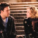 Ben Affleck and Christina Applegate on the set of Surviving Christmas.