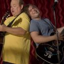 "Kyle Gass stars as ""KG"" and Jack Black stars as ""JB"" in New Line Cinema's upcoming comedy Tenacious D in: The Pick Of Destiny. - 454 x 303"