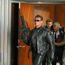 Arnold Schwarzenegger, Nick Stahl, David Andrews and Claire Danes in the futuristic action thriller 'Terminator 3: Rise of the Machines,' distributed by Warner Bros. Pictures. - 454 x 302
