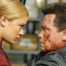 Kristanna Loken and Arnold Schwarzenegger in the futuristic action thriller 'Terminator 3: Rise of the Machines,' distributed by Warner Bros. Pictures.